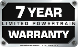 7 YEAR POWER TRAIN WARRANTY
