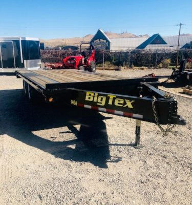 Big Tex 14OA-18 Deckover Utility Trailer Front Passanger Side View
