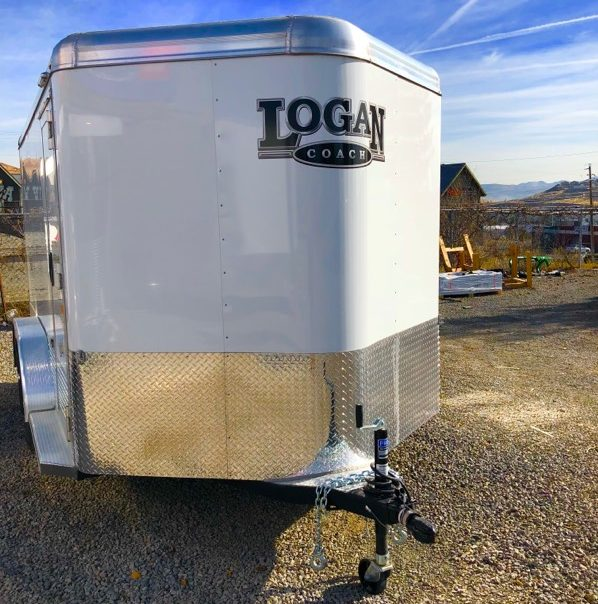 2017 Logan Silver Eagle II Motorcycle Trailer Right Side View