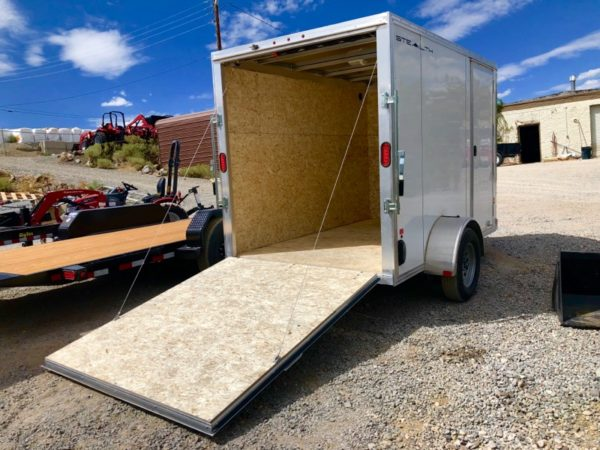2019 Cargo Pro 10′ Enclosed Trailer Back Ramp Down Passanger Side View