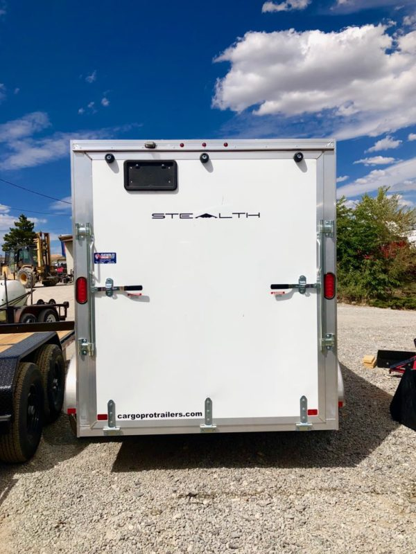2019 Cargo Pro 10′ Enclosed Trailer Backside View