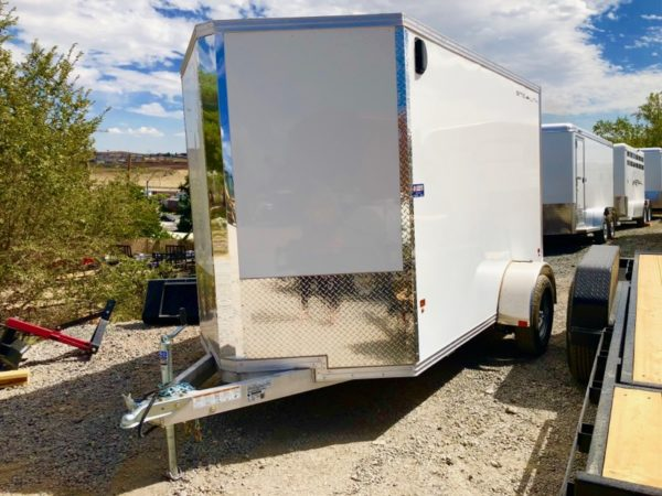 2019 Cargo Pro 10′ Enclosed Trailer Front Driverside View