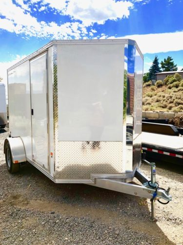 2019 Cargo Pro 10′ Enclosed Trailer Front Passanger Side View