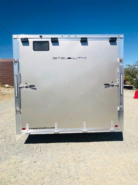 2019 Cargo Pro 20′ Enclosed Car Hauler Trailer Back Side Closed View