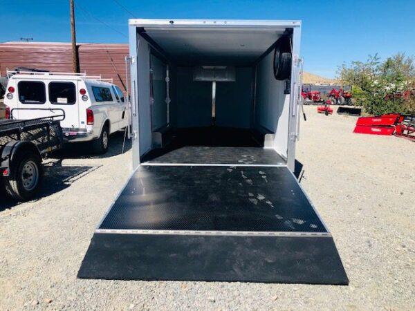 2019 Cargo Pro 20′ Enclosed Car Hauler Trailer Back Side Open View