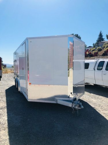 2019 Cargo Pro 20′ Enclosed Car Hauler Trailer Front Driver Side View