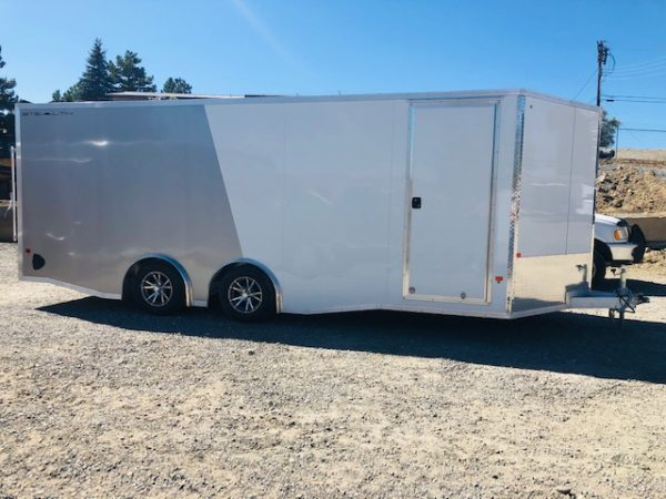 2019 Cargo Pro 20′ Enclosed Car Hauler Trailer Front Passanger Side View