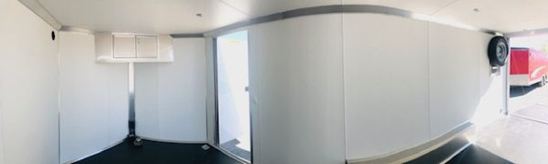 2019 Cargo Pro 20′ Enclosed Car Hauler Trailer Inside Pano View