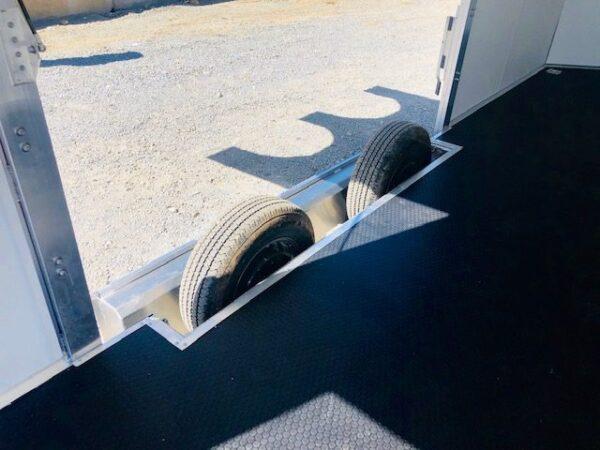 2019 Cargo Pro 20′ Enclosed Car Hauler Trailer Removable Fender Close Up View