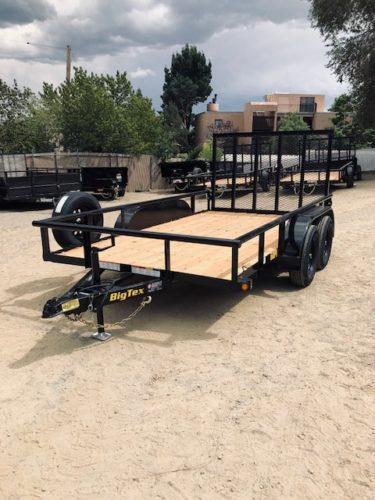 Big Tex 60PI-12 Utility Trailer Front Driverside View