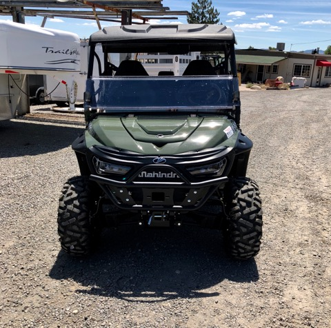 2018 Green Retriever Front View Windshield Down