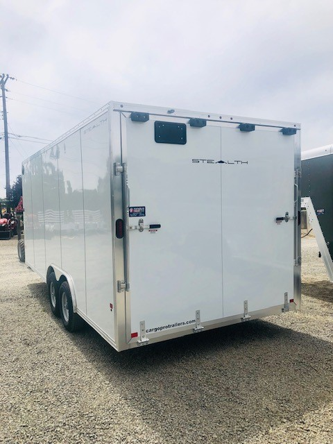 2019 Stealth 20′ Enclosed Trailer Back Driverside View