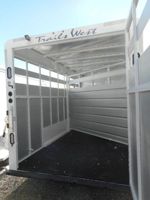 2018 Trails West Santa Fe II GN Stock Combo Trailer Slate Gate View