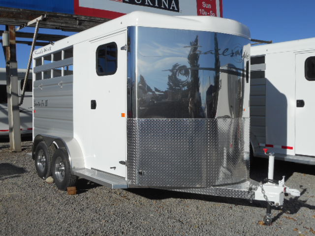 2018 Trails West Santa Fe II 18′ Bumper Pull Stock Trailer Right Side View