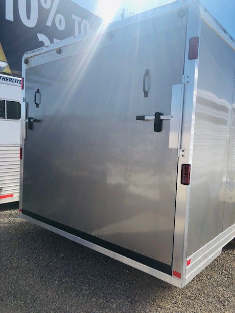 Featherlite 4926 24′ Enclosed Trailer Back Side View