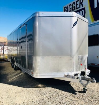 Featherlite 4926 24′ Enclosed Trailer Front Passanger Side View