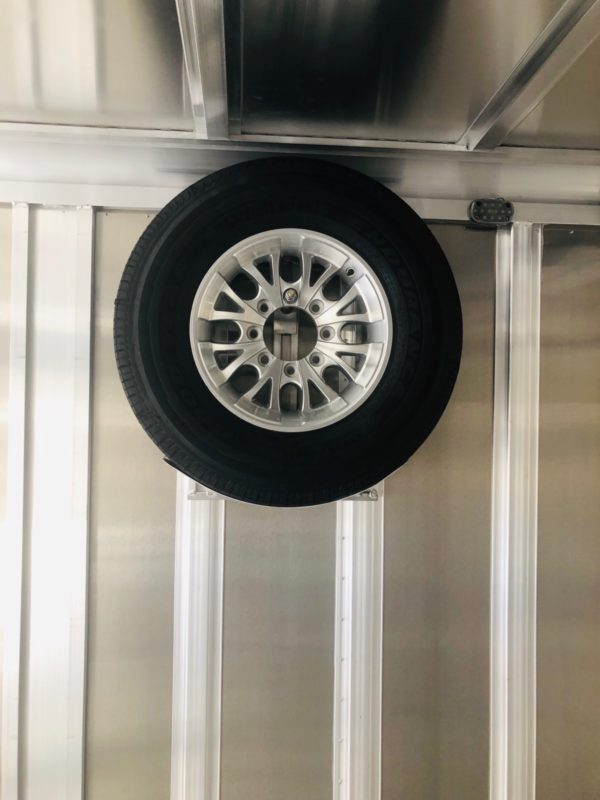 Featherlite 4926 24′ Enclosed Trailer Mounted Tire View