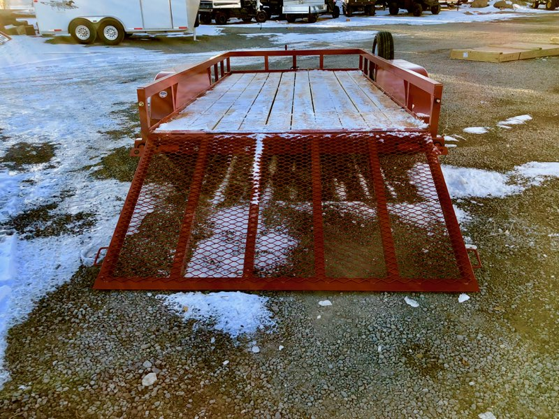 2017 Big Tex 14′ Utility Trailer Back Ramp Down View