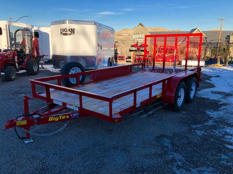 2017 Big Tex 14 Utility Trailer Left Side View