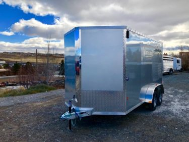2018 CargoPro Stealth V-Nose Enclosed Trailer Left Front Side View