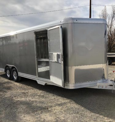 2018 Featherlite 4926 Enclosed Car Hauler Trailer Right Side View