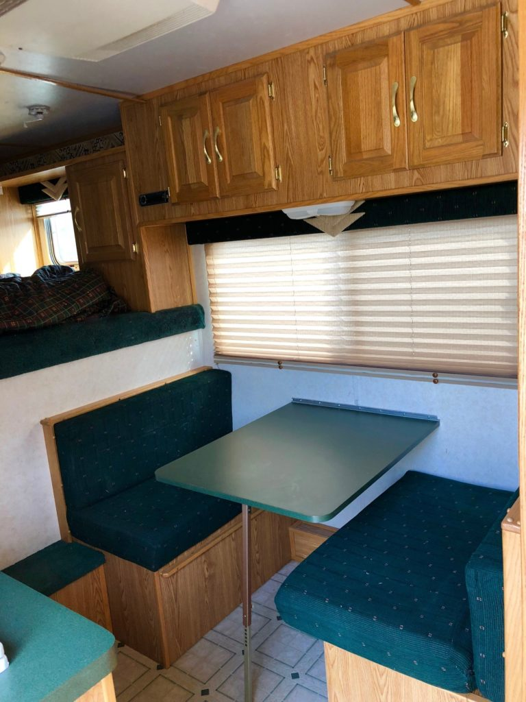 2000 Featherlite 8581 3H LQ Trailer Closeup Inside Seating Area View
