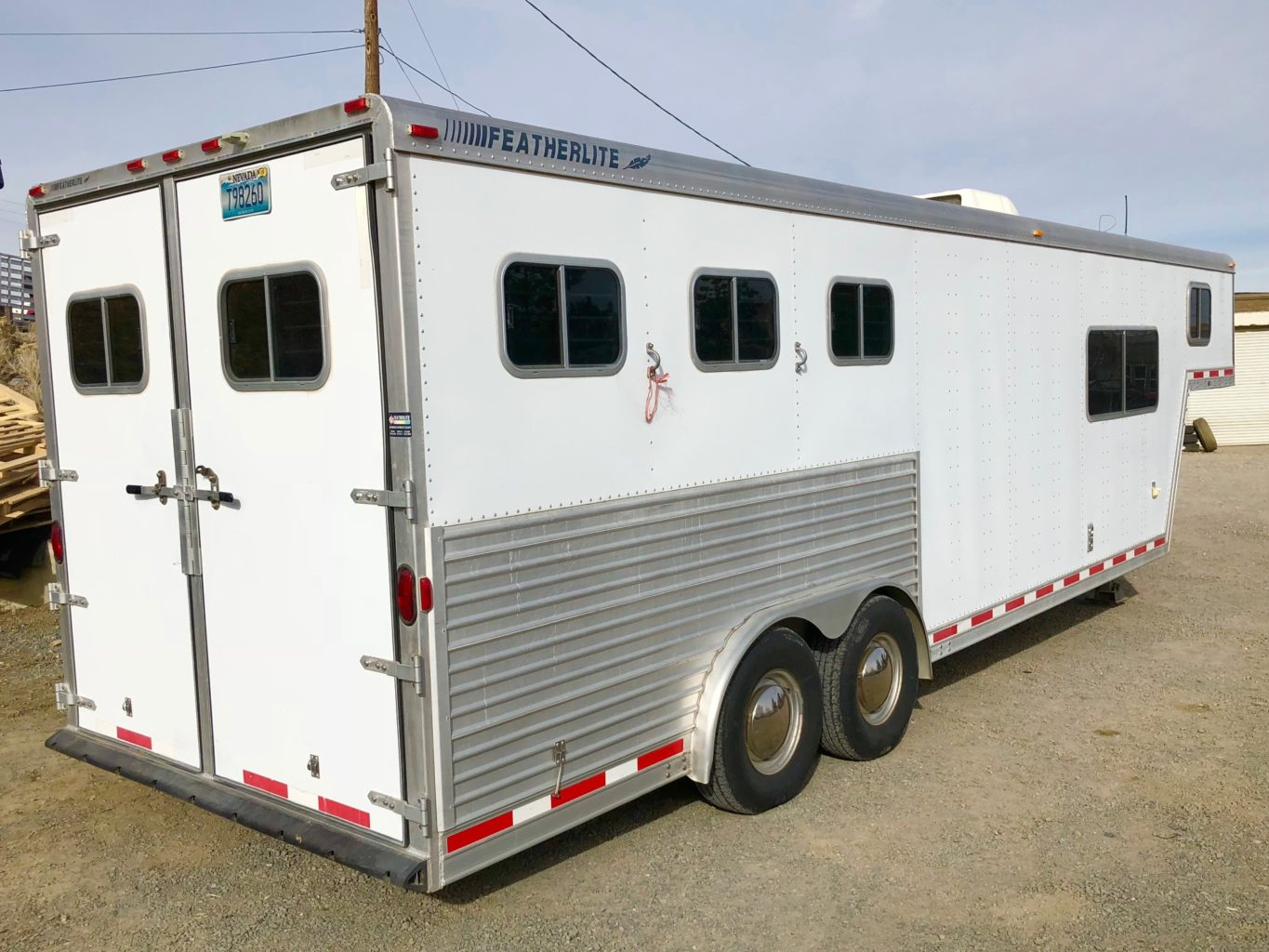 2000 Featherlite 8581 3H LQ Trailer Right Backside View