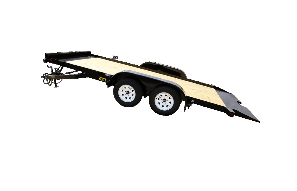 2018 Big Tex 20′ Car Hauler Tilt Trailer Tilt Pose View