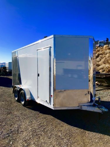 2018 Stealth V-Nose 16′ CargoPro Trailer Front Right Side Angle Front View