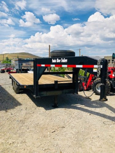 2008 Snake River 18′ GN Utility Trailer Front Passanger Side View