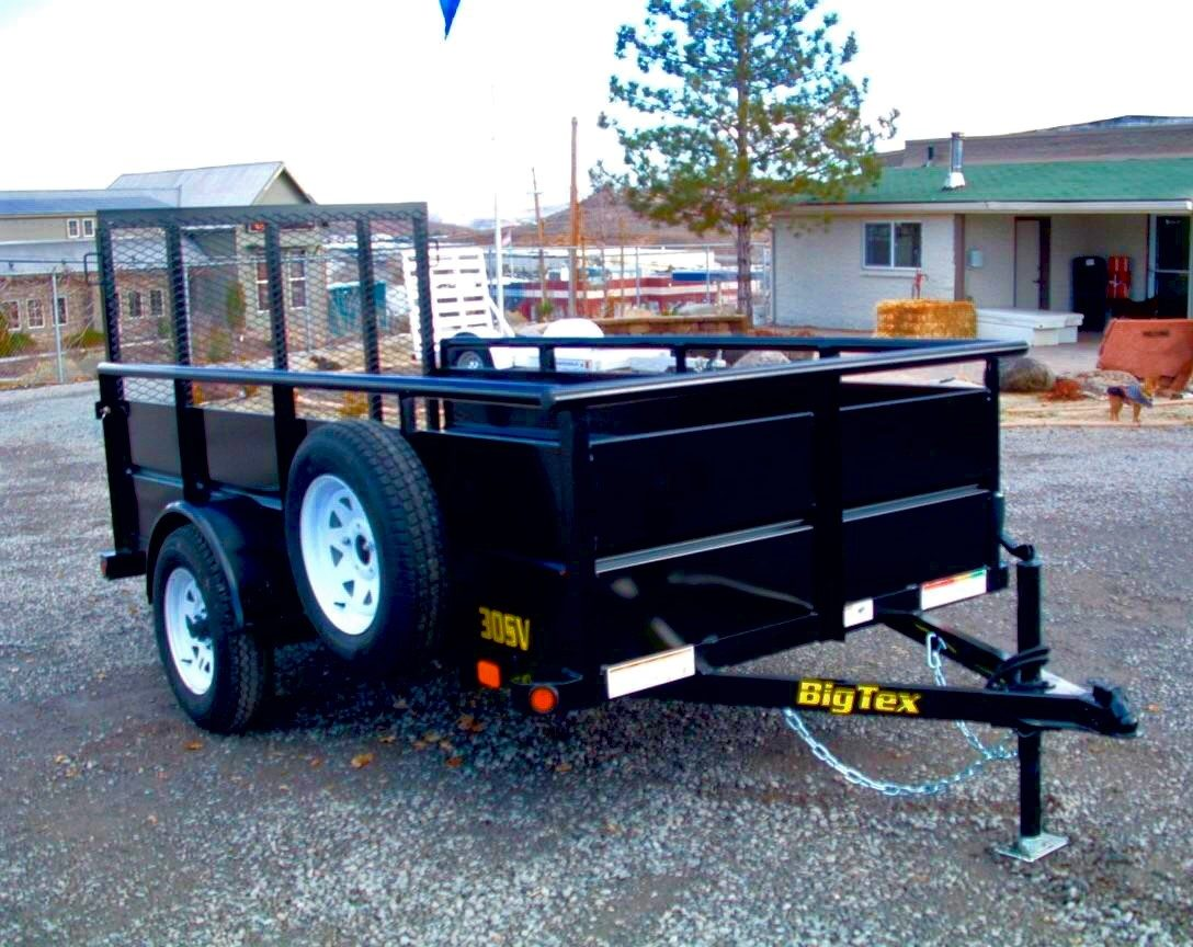 2018 Big Tex 10′ Landscape Utility Trailer Right Front Side View