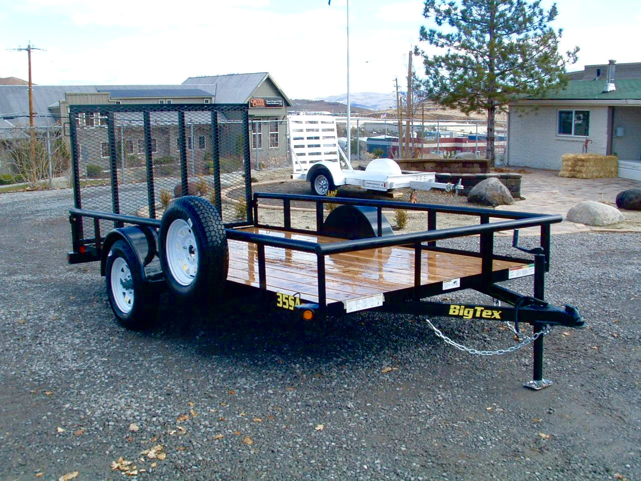 2018 Big Tex Pipe Top Utility Trailer Right Front Side View