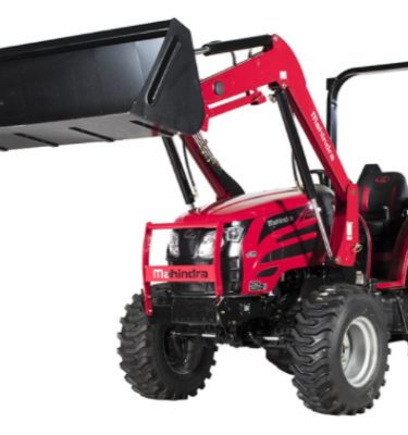 2018 Mahindra 2655 Tractor Left Side Angle Loader Up View