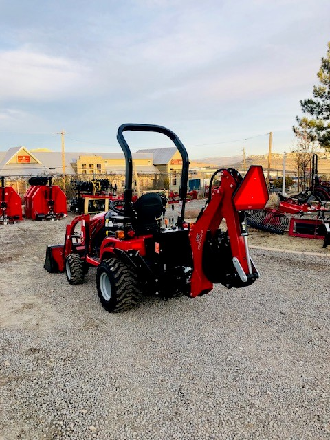 2018 Mahindra Emax S 20 Tractor Backhoe Back Driverside View