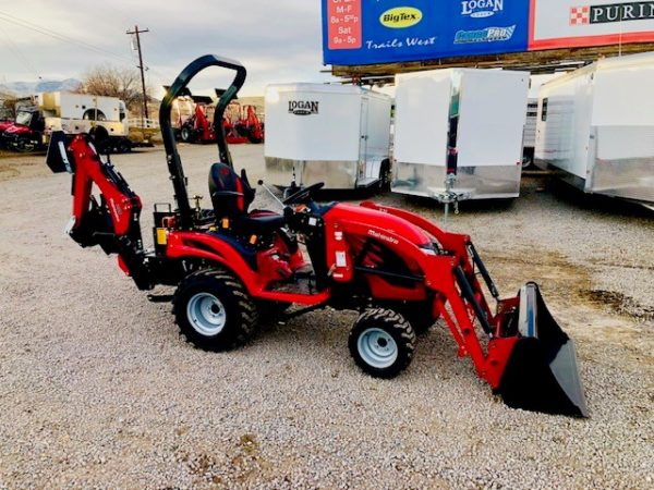 2018 Mahindra Emax S 20 Tractor Backhoe Side View