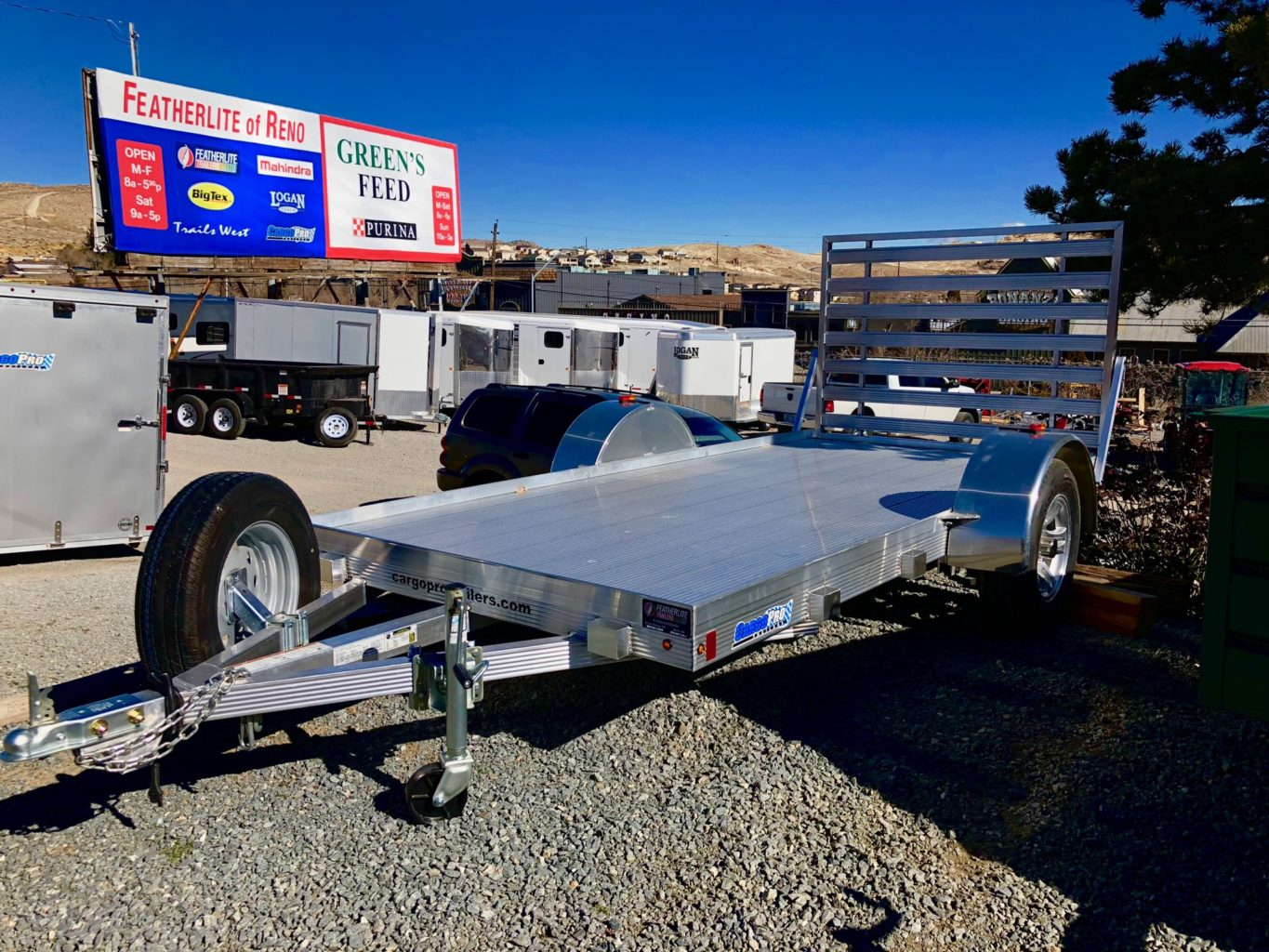 CargoPro Sprint All Aluminum Utility Trailer Left Front Side View