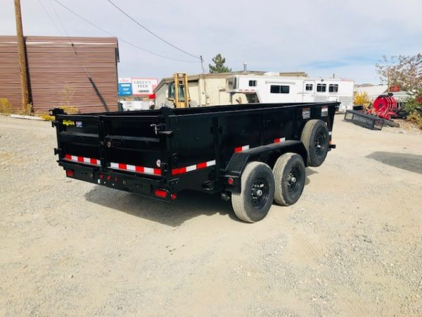 Big Tex 14′ Dump Trailer Back Passanger Side View