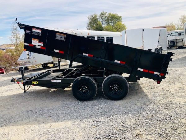 Big Tex 14′ Dump Trailer Driverside View