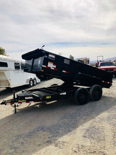 Big Tex 14′ Dump Trailer Front Driverside View