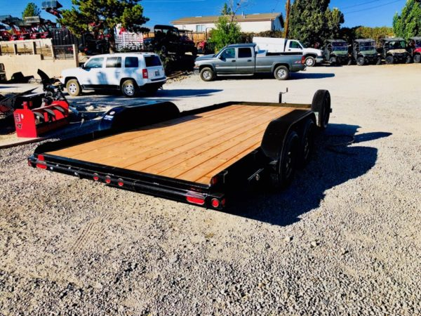 Big Tex 60CH Trailer Back Passanger Side View