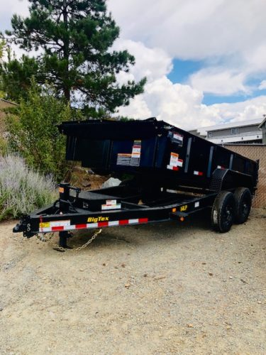 2020 Big Tex 14′ Dump Trailer Front Driverside View