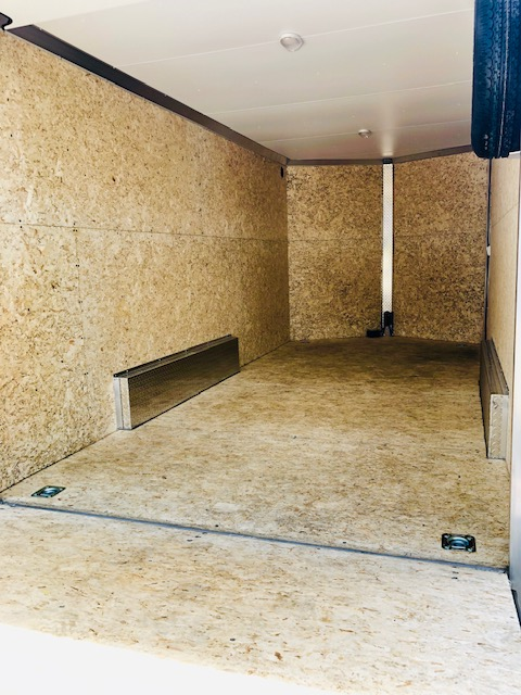 2019 Stealth 16′ Enclosed Trailer Back Inside View