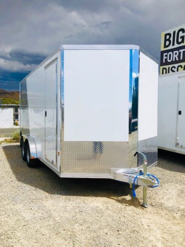 2019 Stealth 16′ Enclosed Trailer Front Passanger Side View