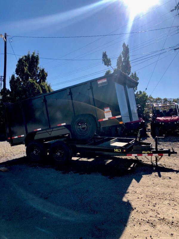 Big Tex 14′ Dump Trailer Posed View