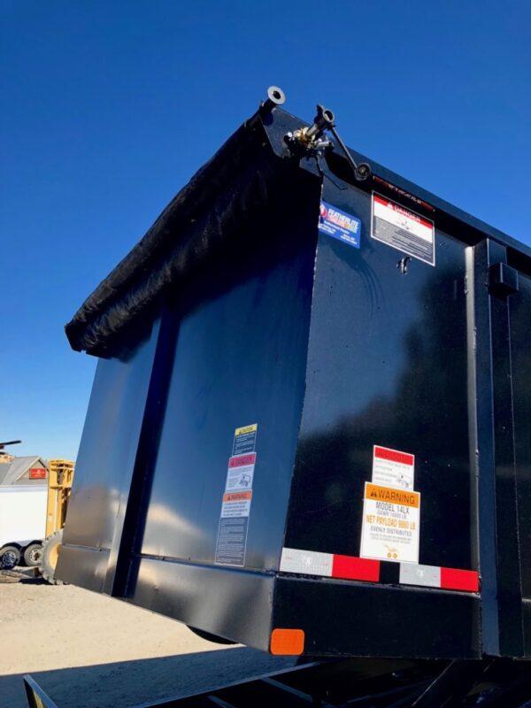 Big Tex 14′ Dump Trailer Up Close Tarp View