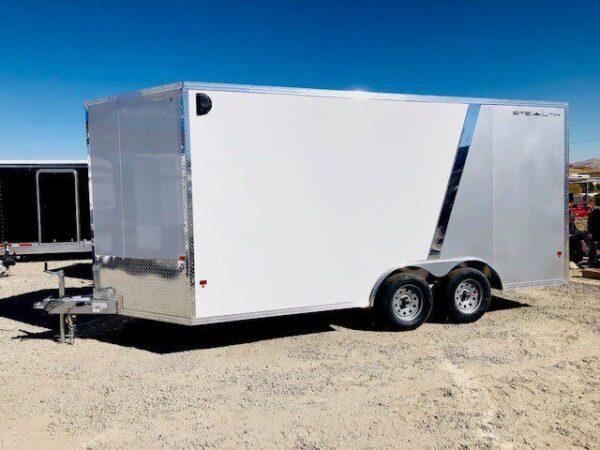 Cargo Pro 16′ Eclosed Featherlite Trailer Driverside View