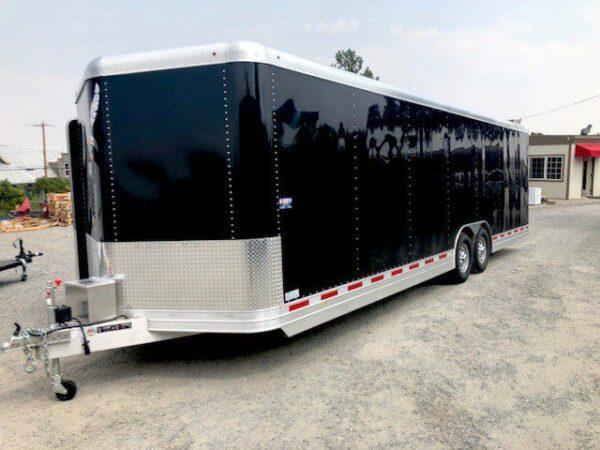 2016 FEATHERLITE 4926 28' Enclosed Car Hauler Trailer Front Driverside View