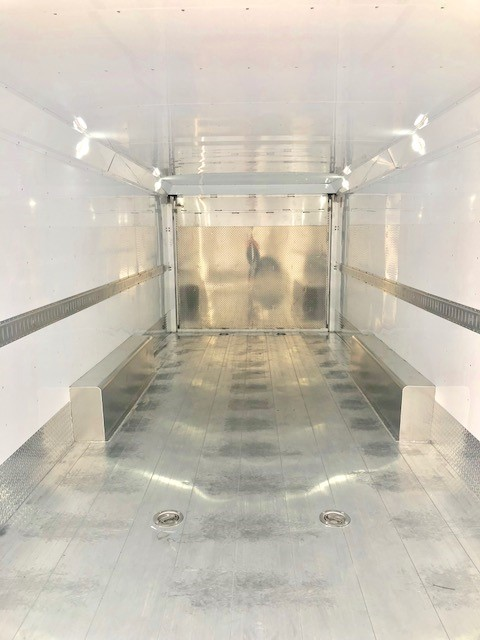 2016 FEATHERLITE 4926 28' Enclosed Car Hauler Trailer Inside Closeup Etrack View
