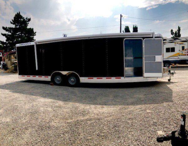 2016 FEATHERLITE 4926 28' Enclosed Car Hauler Trailer Passanger Side View