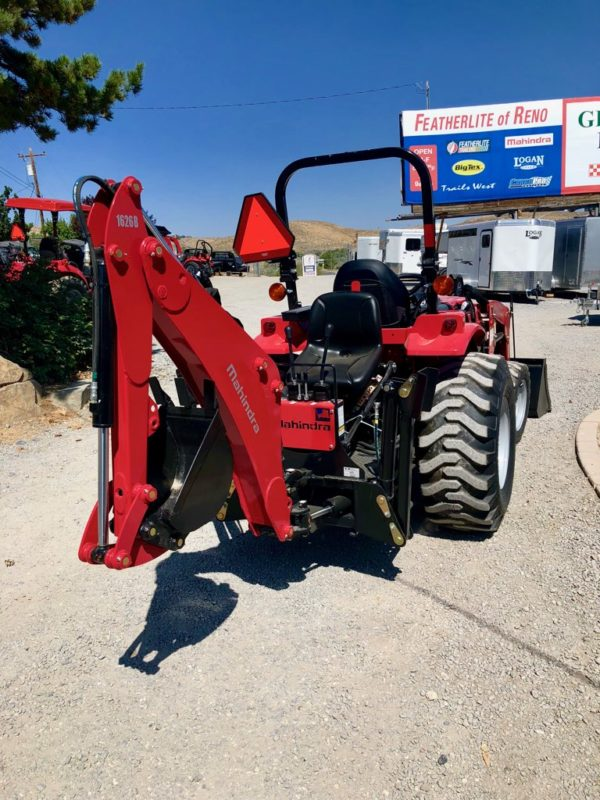 2018 Mahindra 1626 Tractor Loader Backhoe Back Passanger Side Backhoe View